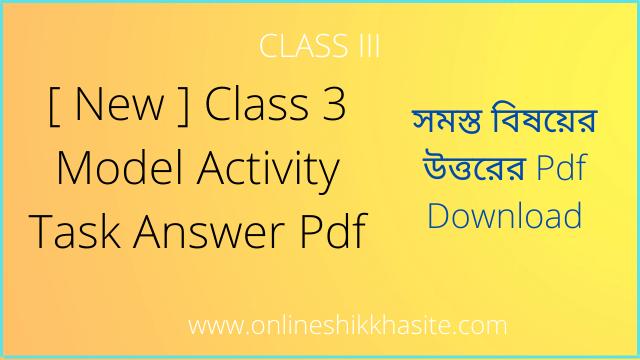 Class 3 Model Activity Task 2021