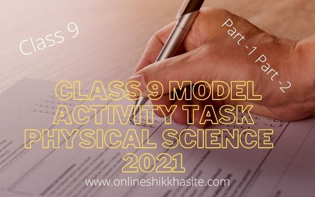 Model Activity Task Class 9 Physical Science Part 6