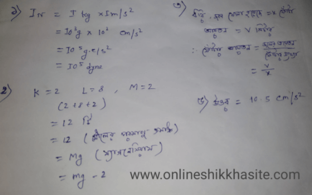 Class 9 Model Activity Task Physical Science Part -1