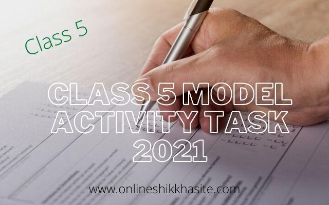 Model Activity Task Class 5 2021