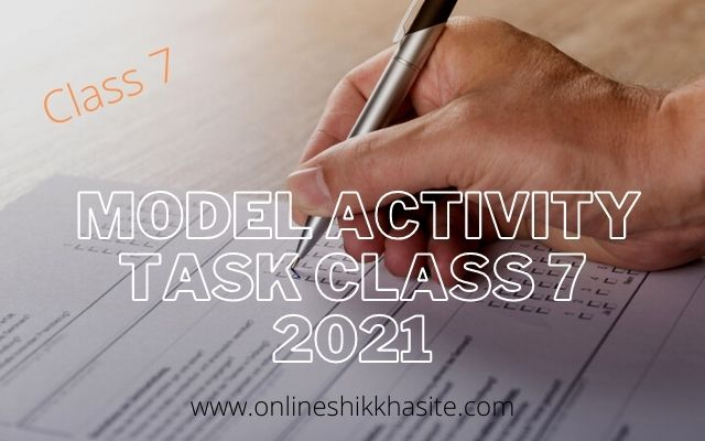 Model Activity Task Class 7 2021