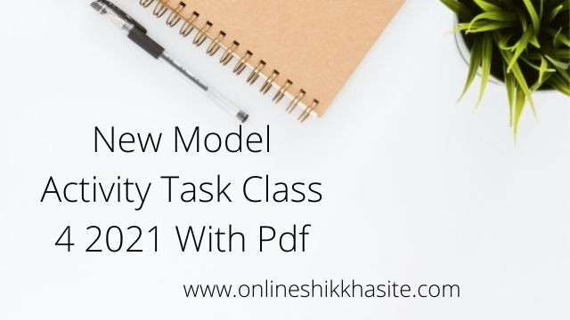 [ 4th series ] Model Activity Task Class 4 Part 7 October 2021