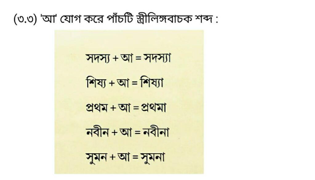 3rd Part Class 5 Bengali Model Activity Task
