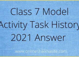 Model Activity Task Class 7 History