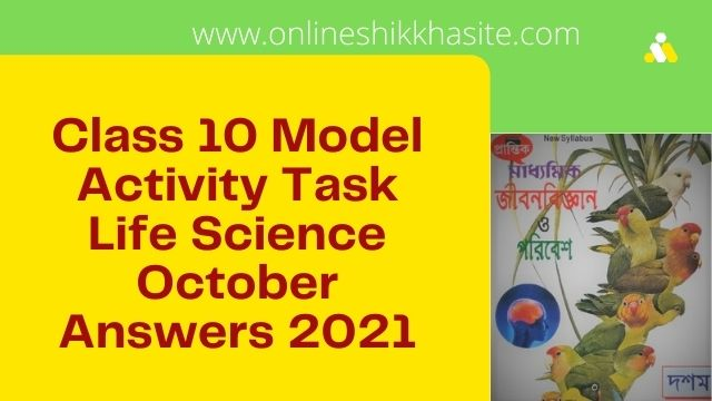 4th Part Class 10 Model Activity Task Life Science October 2021